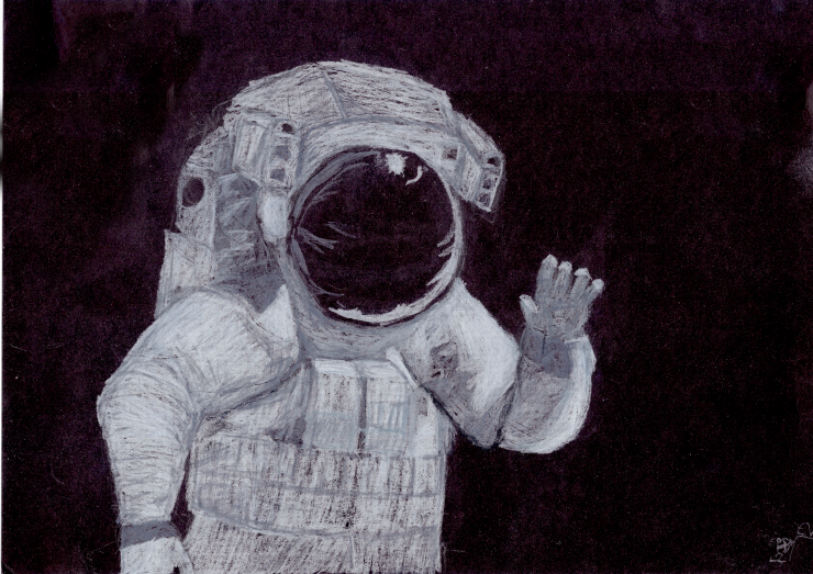 Illustration of an Astronaut, Artist: Dev. Age:13